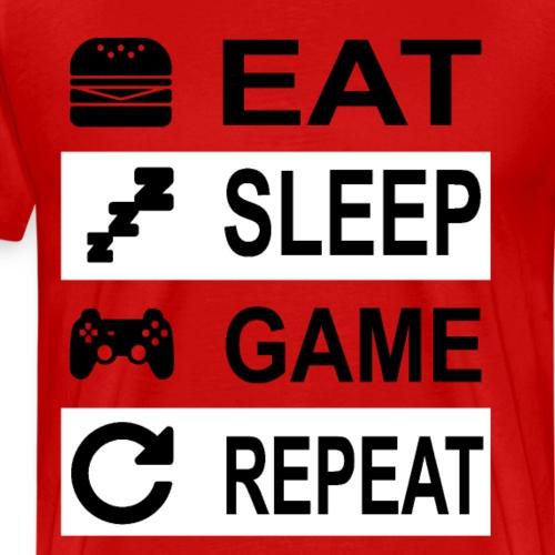 Eat Sleep Game Repeat Gaming - Männer Premium T-Shirt