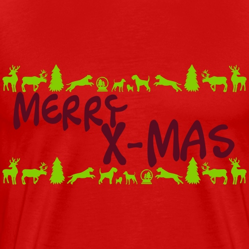 Merry X-Mas Weihnachten Schnauzer Riesenschnauzer - Männer Premium T-Shirt