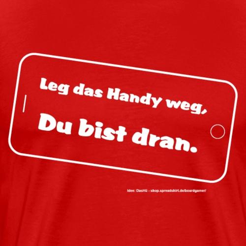 handy grafik weiss - Männer Premium T-Shirt