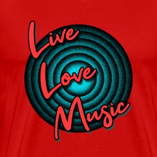 Live Love Music - Festival Sommer Vibes - Männer Premium T-Shirt
