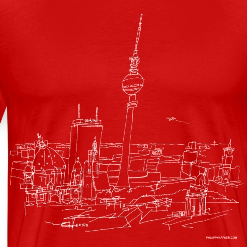 Berlino Panorama (w) - Maglietta Premium da uomo