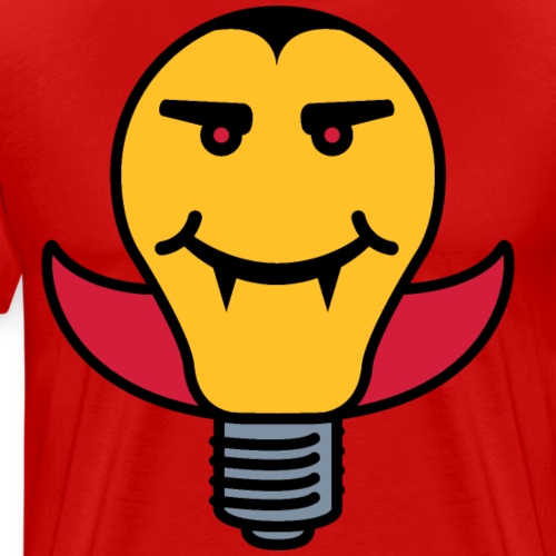 Draculamp Lightbulb - Men's Premium T-Shirt