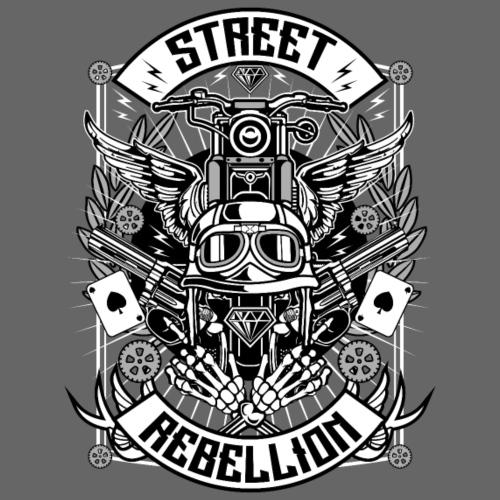 Motorrad Shirt - Street Rebellion (dreifarbig) - Männer Premium T-Shirt
