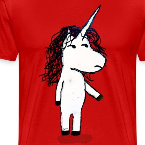 Unicorno arrabbiato - Maglietta Premium da uomo