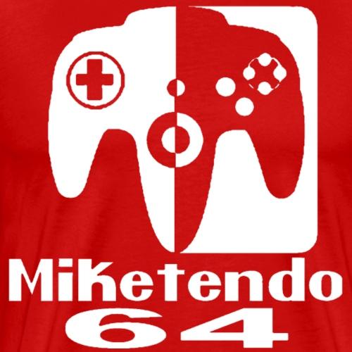 M64 Logo Blanco - Camiseta premium hombre