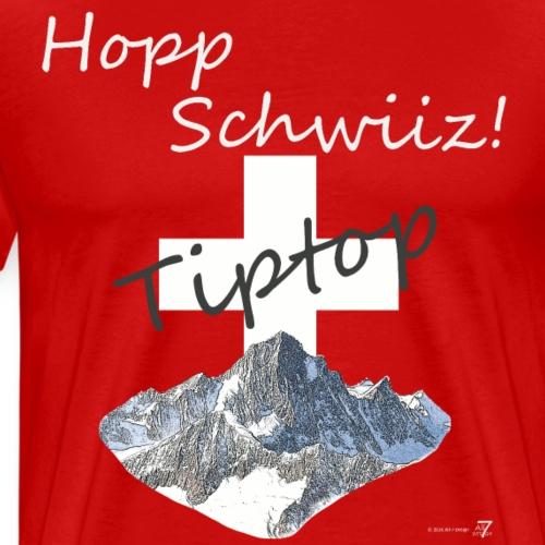 Hopp Schwiiz Tiptop - Männer Premium T-Shirt