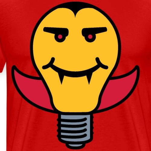 Draculamp Lightbulb - Men's Premium T-Shirt