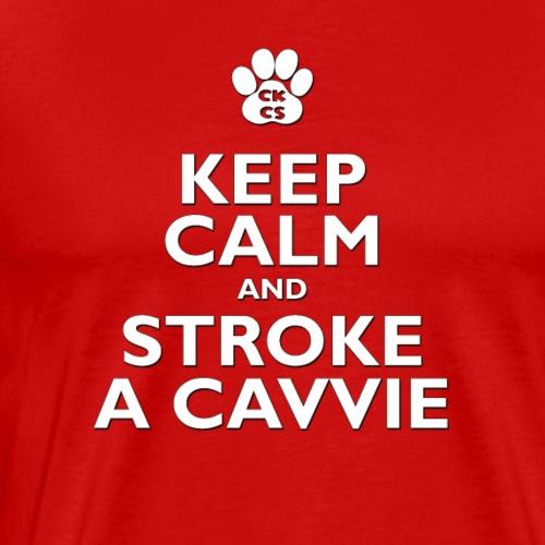 Keep Calm, stroke a Cavalier King Charles Spaniel - Men's Premium T-Shirt