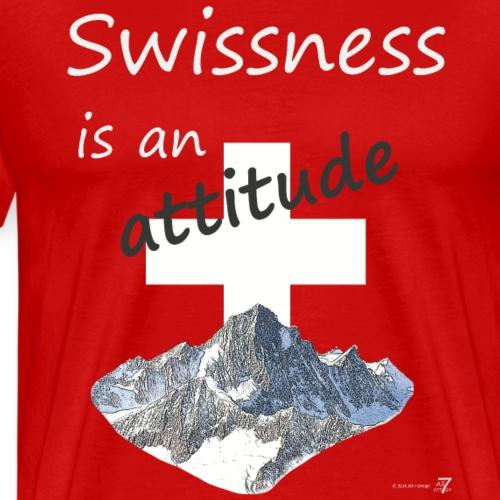 Swissness is an attitude - Männer Premium T-Shirt
