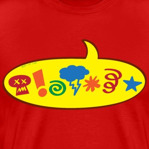 Cursing bad words speech balloon - Men's Premium T-Shirt