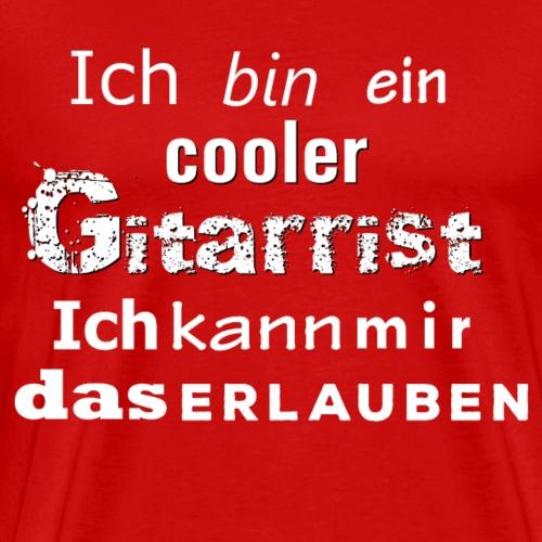 Cooler Gitarrist weiss - Männer Premium T-Shirt