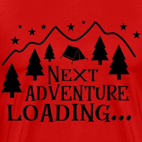 Outdoor Camping Wandern Natur Berg Geschenk Spruch - Männer Premium T-Shirt