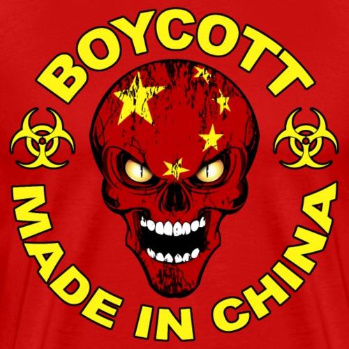 Chinese skull flag - T-shirt Premium Homme