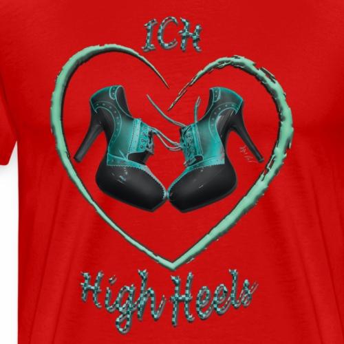 Liebe high heels gruen - Männer Premium T-Shirt
