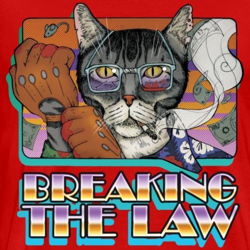 Crime Cat- Breaking the Law - Koszulka męska Premium