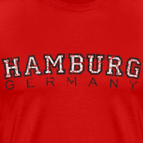 Hamburg Germany (Vintage/Weiß) - Männer Premium T-Shirt