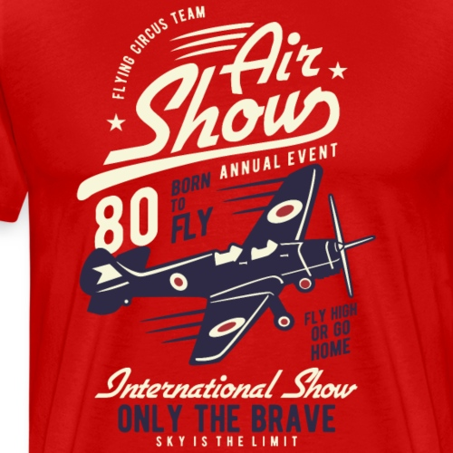 Air Show Airplane - Männer Premium T-Shirt