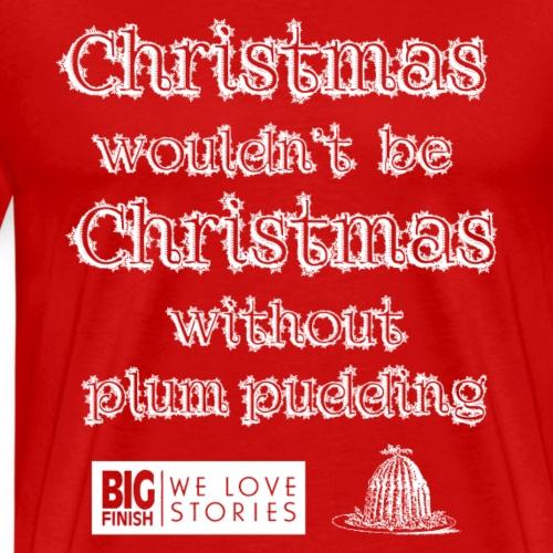 Christmas Pudding (white) - Men's Premium T-Shirt