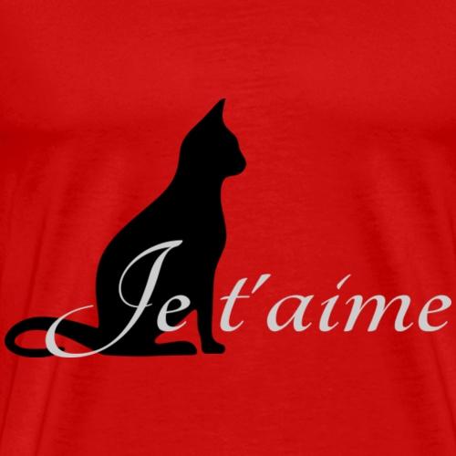 Chat noir - Je t'aime - T-shirt Premium Homme