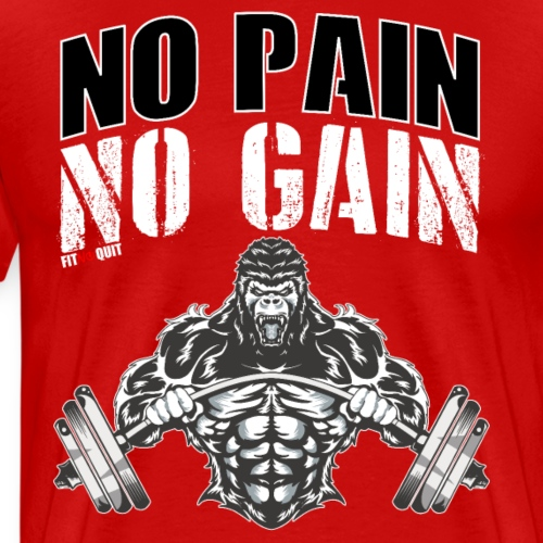 No pain no gain para entrenar en el gimnasio duro - Camiseta premium hombre