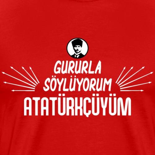 Atatürkcüyüm 6 Ok - Männer Premium T-Shirt