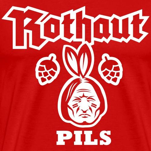 Rothaut Pils - Männer Premium T-Shirt