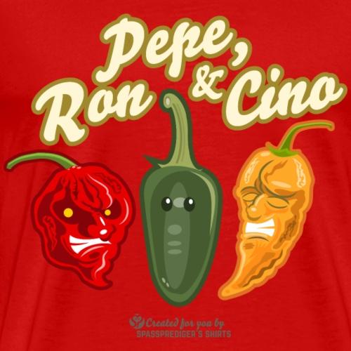 Pepe, Ron & Cino Chili T-Shirt Design - Männer Premium T-Shirt