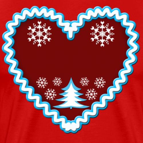 Lebkuchenherz Dein Text Frohe Weihnachten 01 - Männer Premium T-Shirt