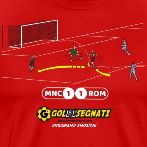MNC-ROM 1-1 Il Gol del Capitano - Maglietta Premium da uomo