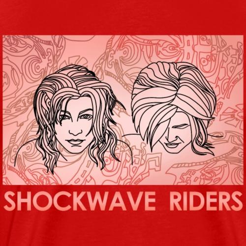 Shockwave Riders Faces orange - Männer Premium T-Shirt