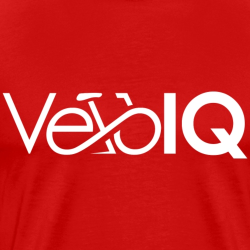 VeloIQ Logo T-Shirt - white - Men's Premium T-Shirt