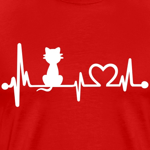 cat heartbeat - Men's Premium T-Shirt