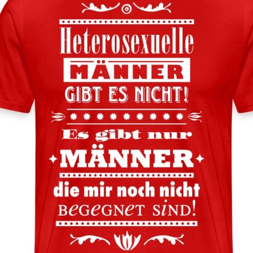 Hetero-Männer Zitat queer gay schwul Tunte homo - Men's Premium T-Shirt