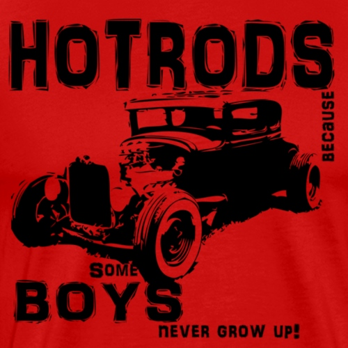 Some boys never grow up - Herre premium T-shirt