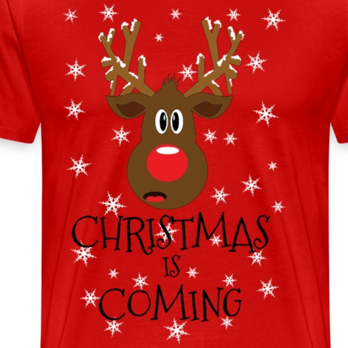 Christmas is coming snow - Men's Premium T-Shirt