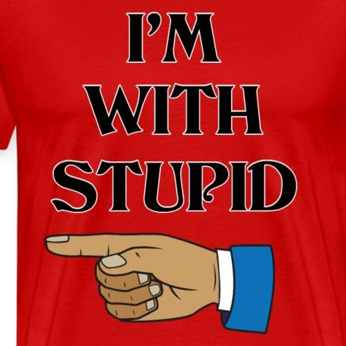 I m with stupid - Mannen Premium T-shirt