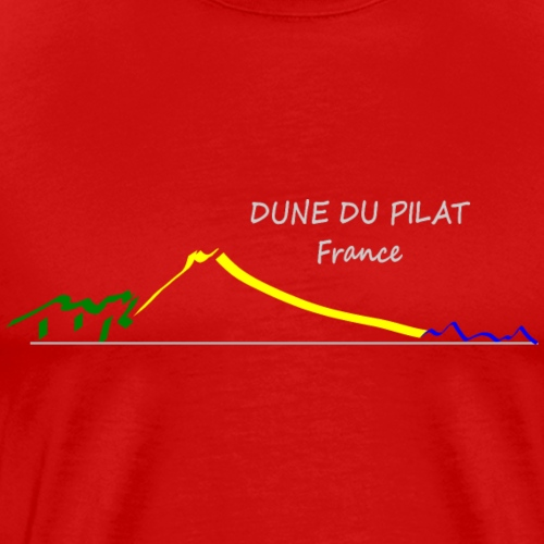 DUNE OF THE PILAT DRAWING - Men's Premium T-Shirt