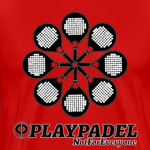 PLAYPADELBlackFlower - Maglietta Premium da uomo