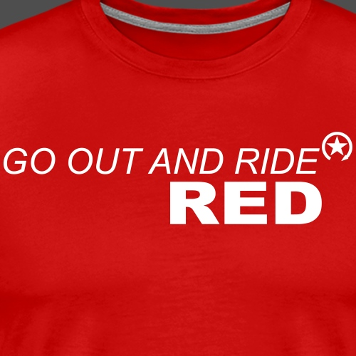 ride red - Männer Premium T-Shirt