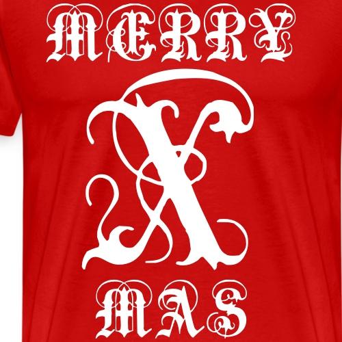 Merry X-mas Christmas - Männer Premium T-Shirt