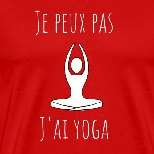 Je peux pas, j'ai yoga 2 - T-shirt Premium Homme