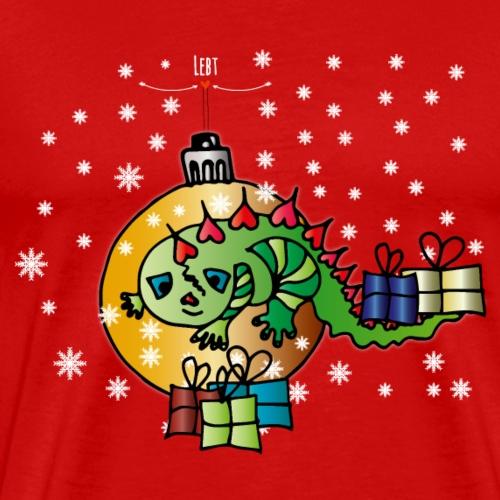 Weihnachtseidechse - Männer Premium T-Shirt