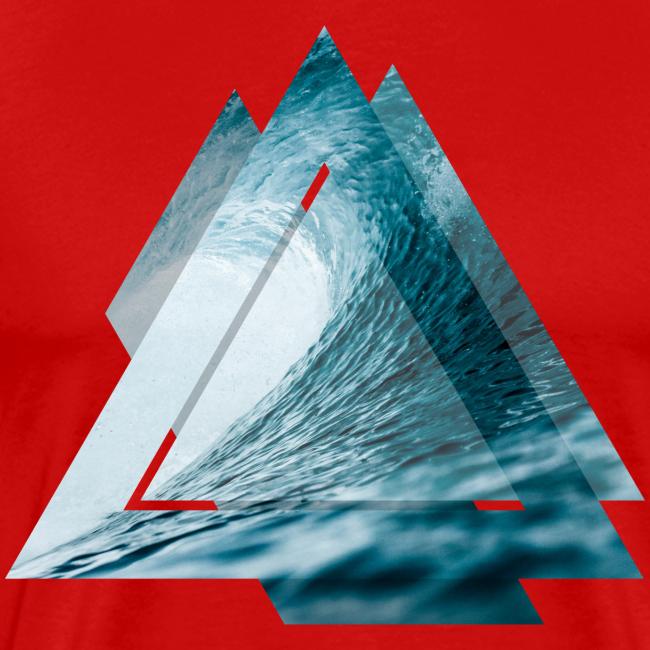 Dreieck Surfer Welle