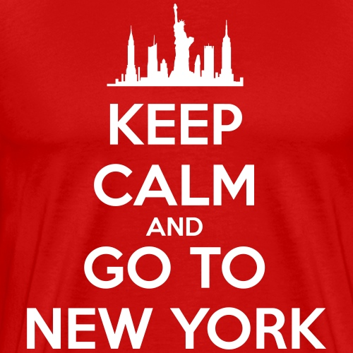 Keep Calm and go to New York - T-shirt Premium Homme