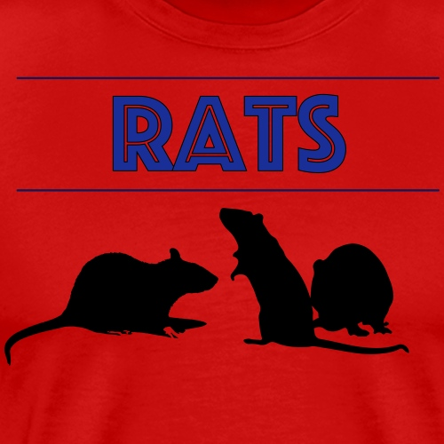 Rats With Rats' Silhouette - Men's Premium T-Shirt
