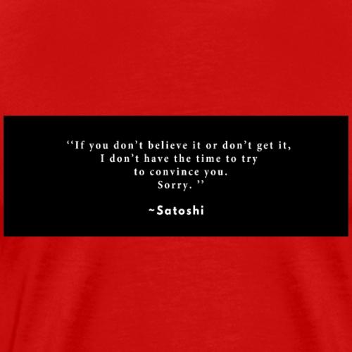 satoshi - T-shirt Premium Homme