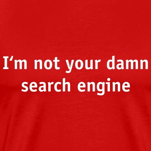 No search engine - Premium-T-shirt herr