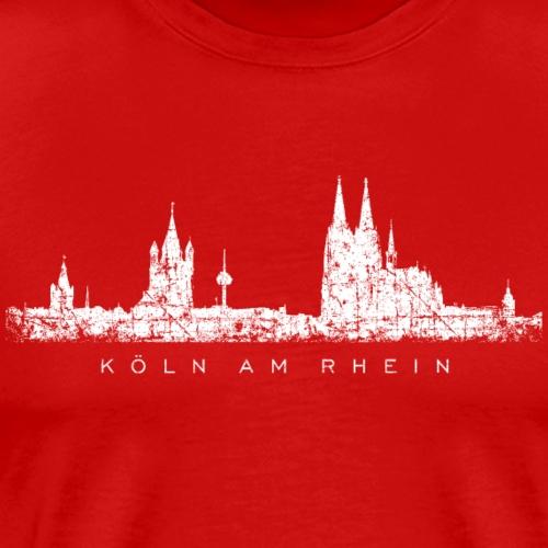 Köln am Rhein Kölner Skyline (Vintage Weiß) - Männer Premium T-Shirt