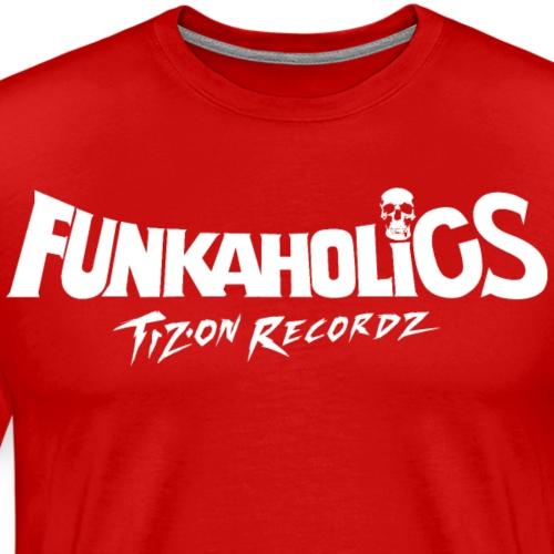 logo_funkaholics_white - T-shirt Premium Homme