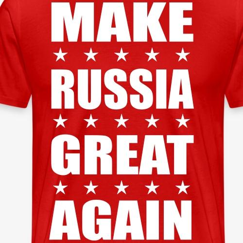 Make RUSSIA Great Again Russland Rossija - Männer Premium T-Shirt